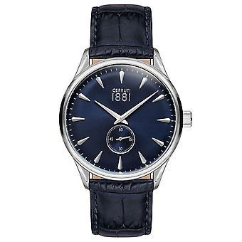 Cerruti 1881 Mens Gents Black & Blue Designer Wrist Watch CRA24004