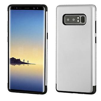Silver Glossy/Black Hybrid Protector Cover for Galaxy Note 8