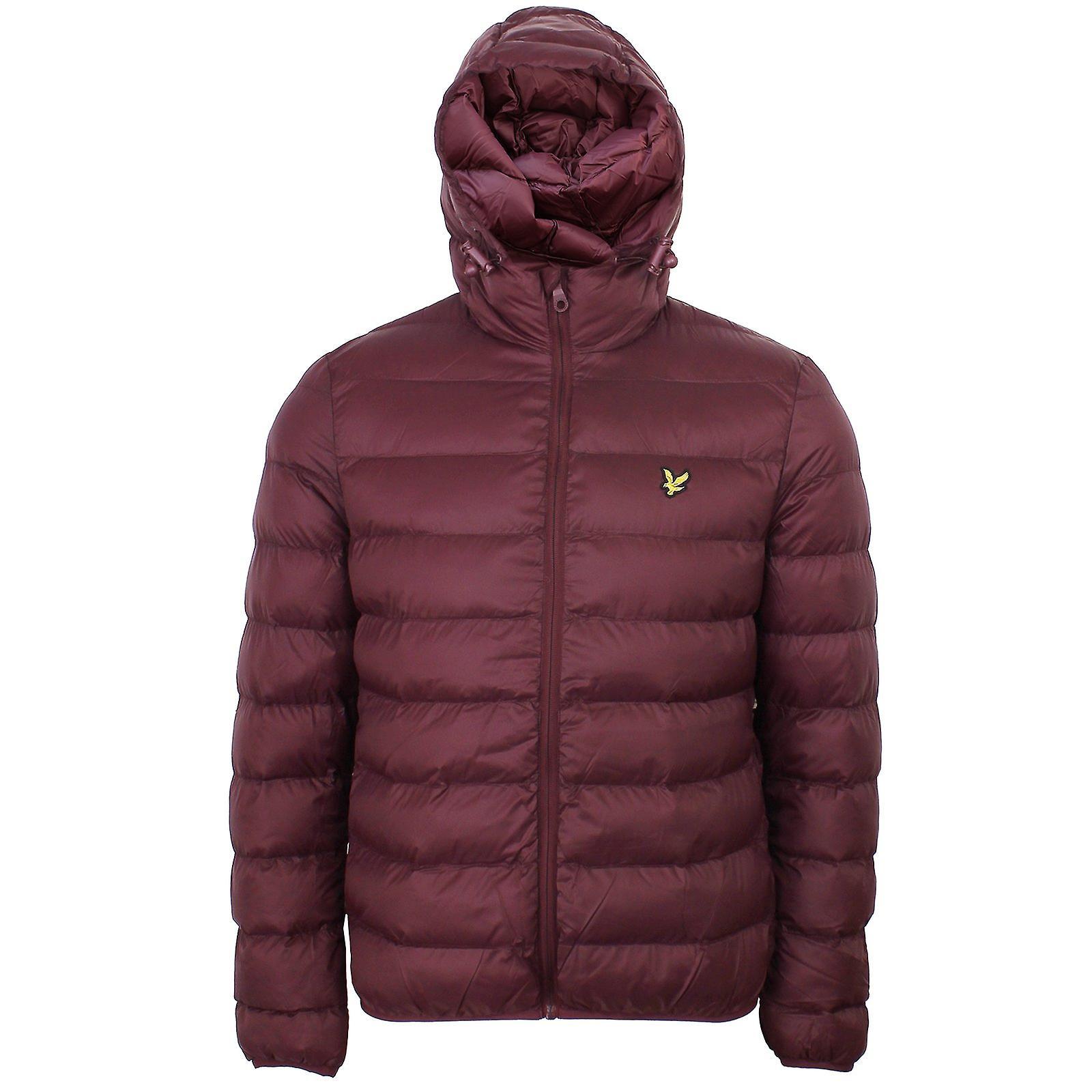 Lyle & scott men's burgundy puffer jacket