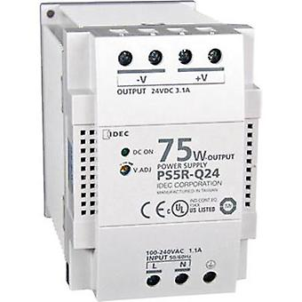 Rail mounted PSU (DIN) Idec PS5R-Q24 24 Vdc 3.1 A 75 W 1 x