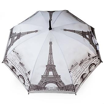 Umbrella stick umbrella motif Paris black and white