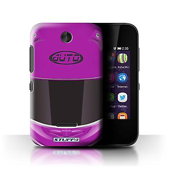STUFF4 Case/Cover for Nokia Asha 230/Superbike/Pink/Motorcycle Helmet