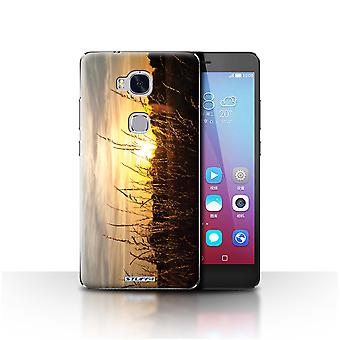 STUFF4 Case/Cover for Huawei Honor 5X/GR5/Barley Fields/Sunset Scenery