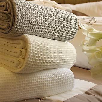 Contemporary Waffle Pure Cotton Blanket/Bedspread