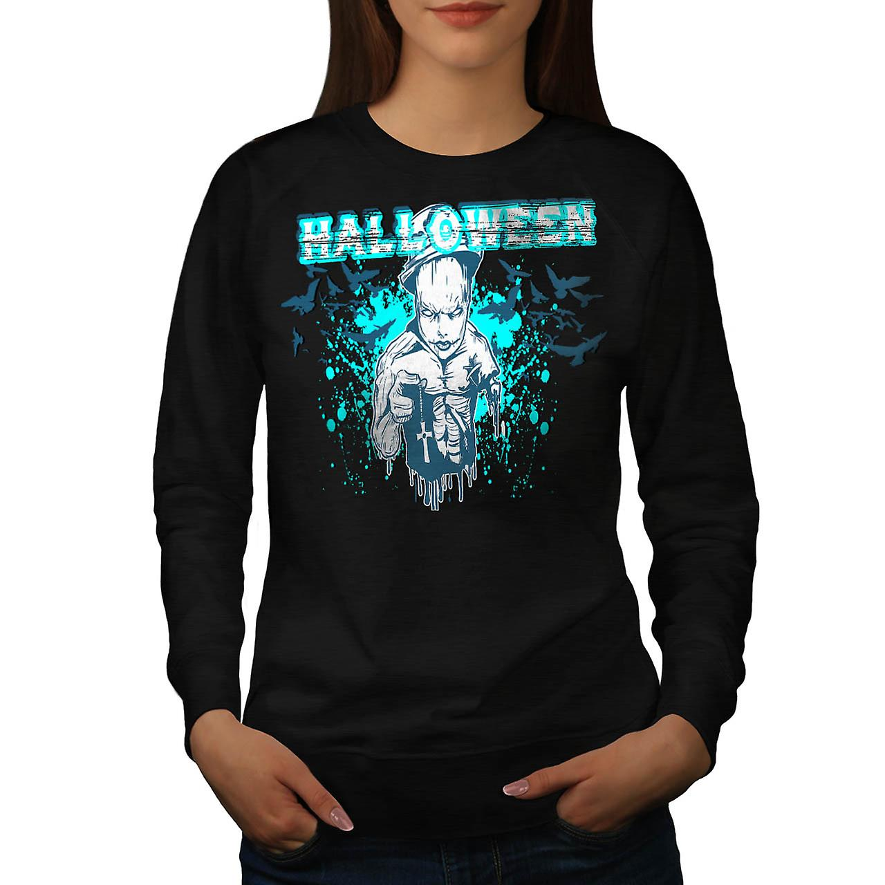 Halloween Horror Cult eng Demon vrouwen zwart Sweatshirt | Wellcoda