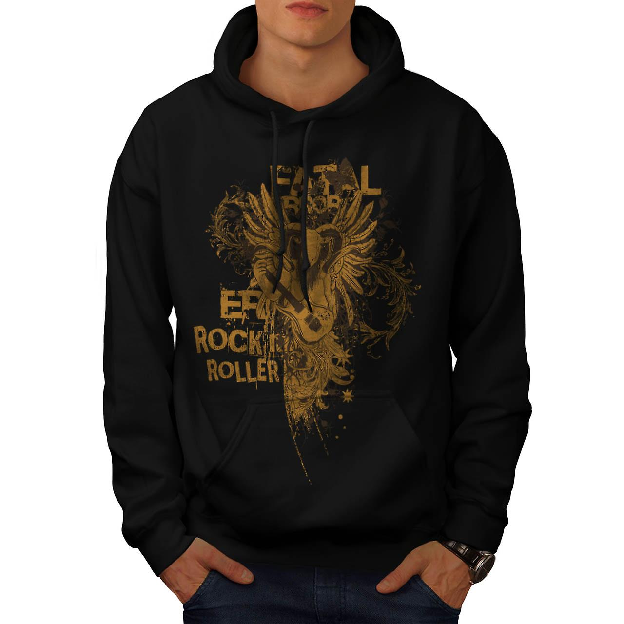 Fatal Error Rock Music Men Black Hoodie | Wellcoda