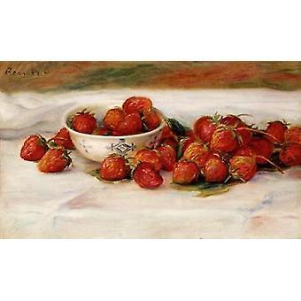 Stampa del manifesto di fragole di Pierre-Auguste Renoir