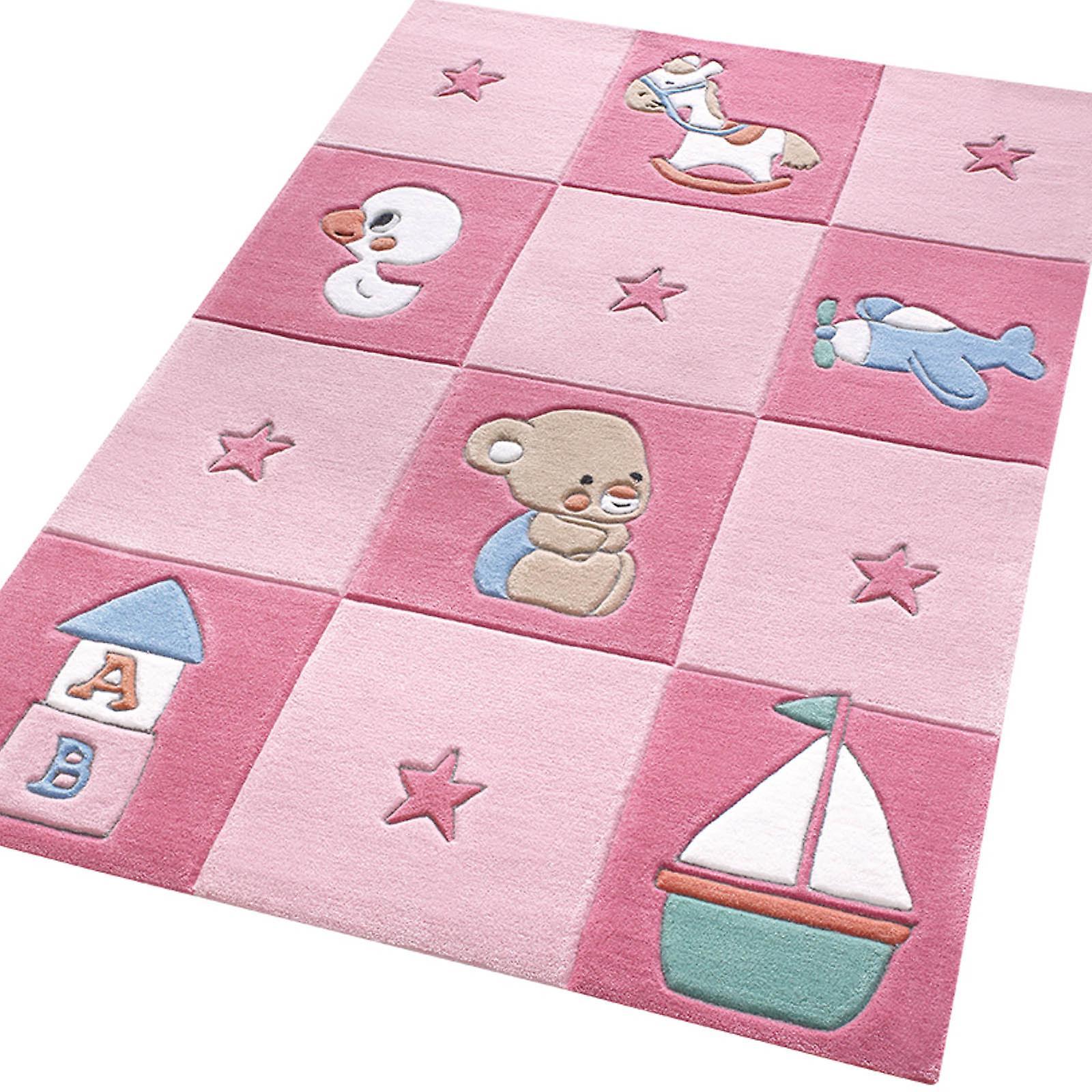 Nouveau-né tapis 3986 02 rose
