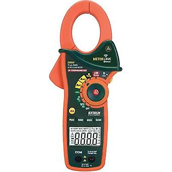 Current clamp, Handheld multimeter digital Extech EX845 Calibrated to: Manufacturer standards IR thermometer CAT III 100