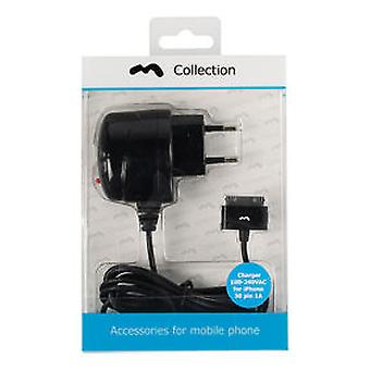 M-Collection Wall Charger 1-Output 1.0 A Apple 30-Pin Black