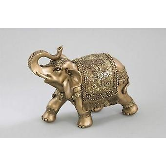 Éléphant ornement Figurine cadeau idée or