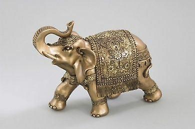 Elephant Ornament Figurine Gift Idea Gold