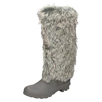 Kære plet på flad pels øverste Wellington støvler X1152