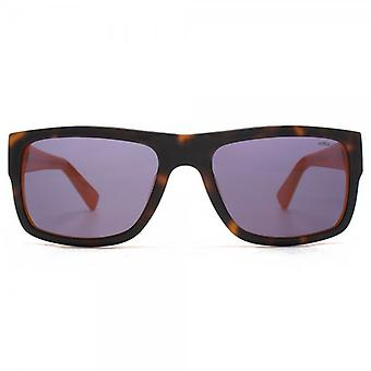 Hook LDN Blitz Sunglasses In Tortoiseshell On Orange