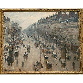 Camille Pissarro - The Boulevard Montmartre Poster Print Giclee