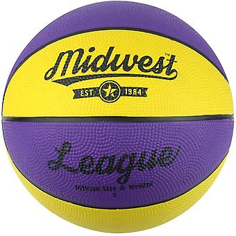 Midwest Basketball Yellow & Purple Size 3