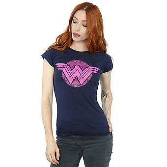 DC Comics Women's Wonder Woman Pink Mosaic T-Shirt