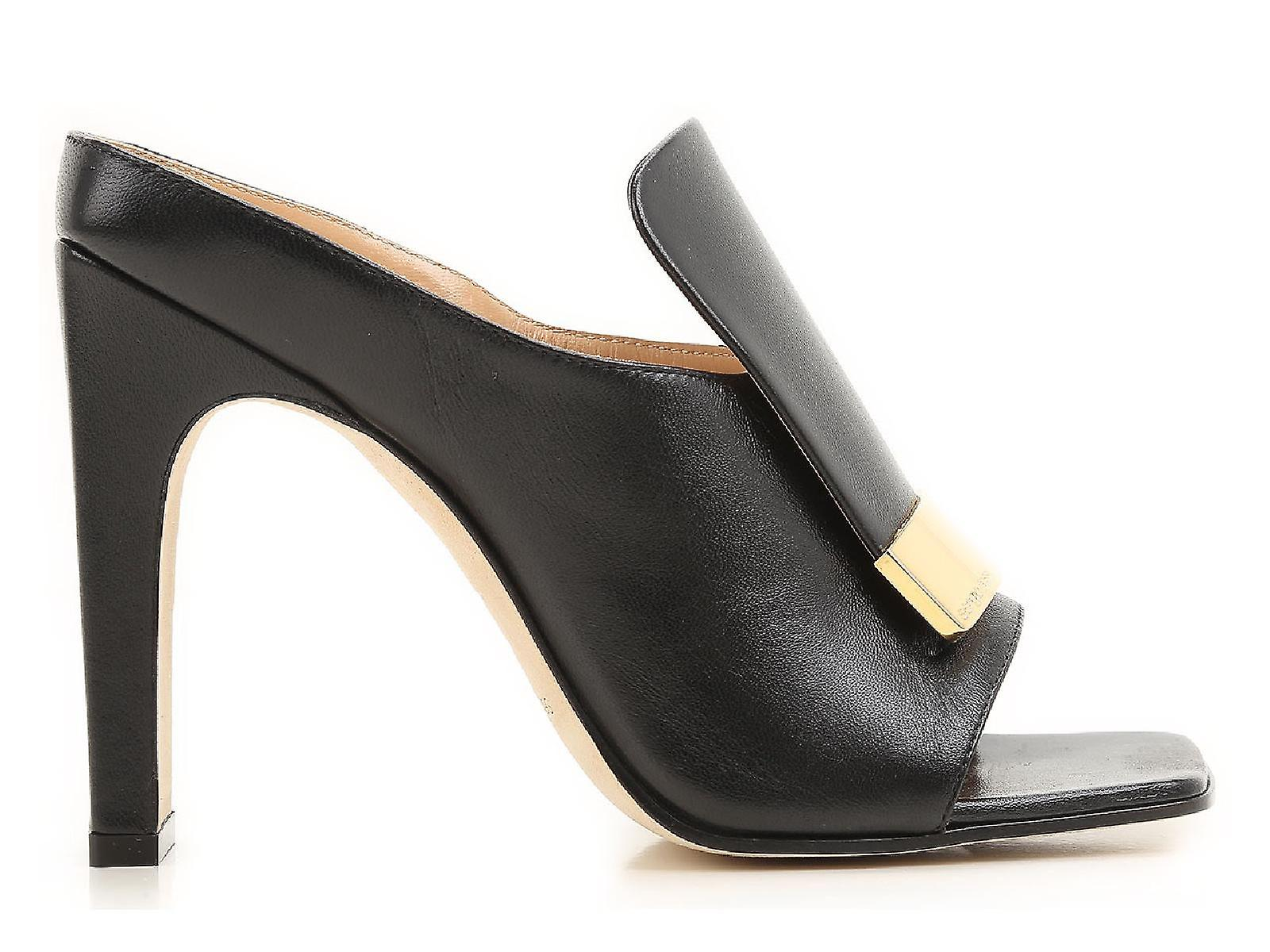 Sergio in leather heels high mules black Rossi rwSO1qnr