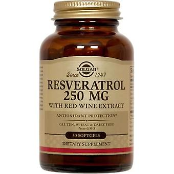 Solgar Resveratrol 250 mg with Red Wine Extract 30 Softgels