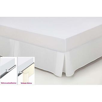 Wellindal Cubrecanapé Thread Tinted Rustic White Optical Velcro Bed