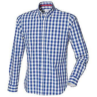 Front Row Mens Checked Casual Cotton Shirt