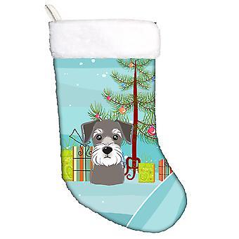 Albero di Natale di Carolines tesori BB1578CS e Schnauzer calza di Natale