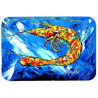Carolines Treasures  MW1226LCB Ice Blue Shrimp Glass Cutting Board Large