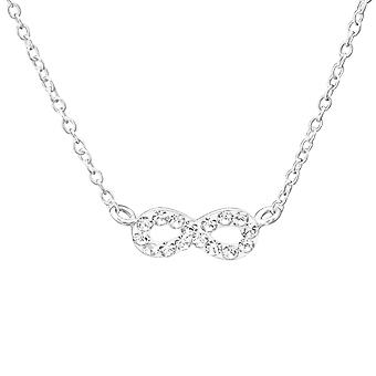 Infinity - 925 Sterling Silver Jewelled Necklaces