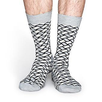 Happy Socks chaussettes de Basket - gris
