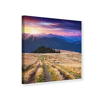 Canvas Print Sunset In The Mountain Scenery