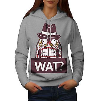 Skull What Funny Women GreyHoodie | Wellcoda