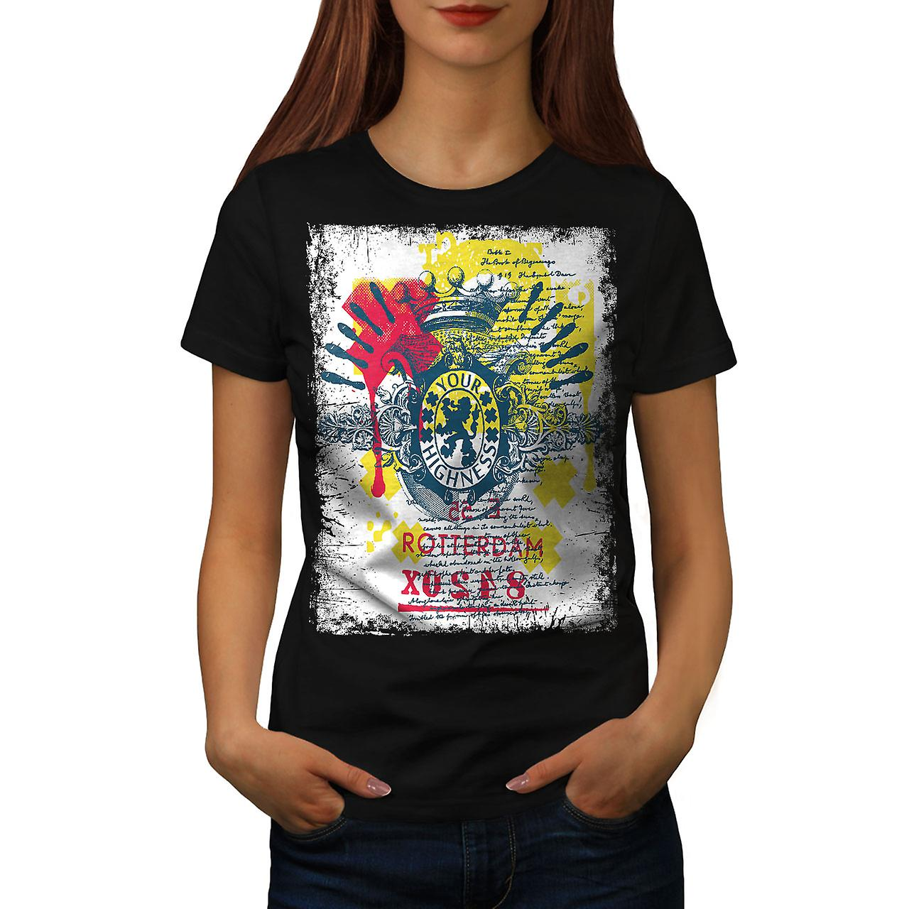 Rotterdam Dutch Cool City Women Black T-shirt | Wellcoda