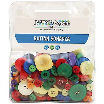 Button Bonanza .5lb Assorted Buttons-Primary BB-43