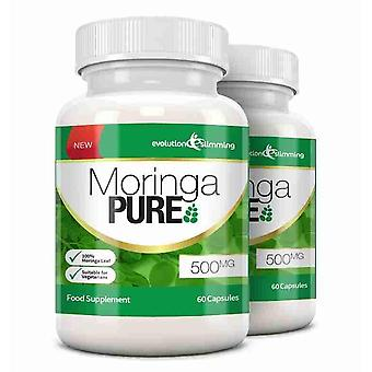 Moringa Pure Capsules 500mg - 120 Capsules - Antioxidant - Evolution Slimming