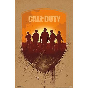 Call of Duty WWII - Shield Poster Print