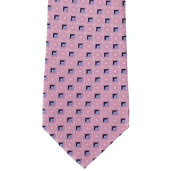 Michelsons of London Linking Neat Silk Tie - Pink
