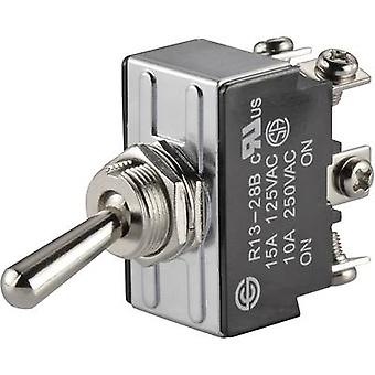 Toggle switch 250 V AC 10 A 2 x On/On SCI R13-28B-