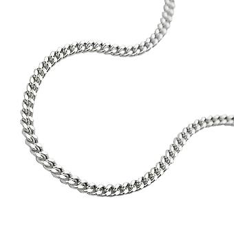 Necklace thin curb chain silver 925 38cm