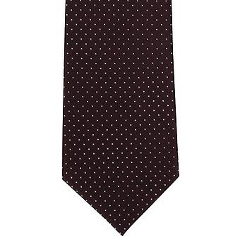 Michelsons of London Micro Dot Polyester Tie - Wine