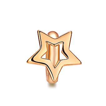 سحر الخرز نجمة الفولاذ المقاوم للصدأ وارتفع الذهب