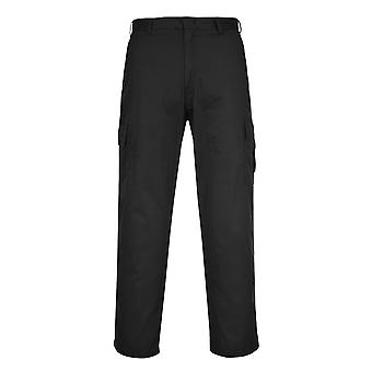 Portwest Combat Kneepad Pocket Trousers - Black Mens Rugged Work Pants