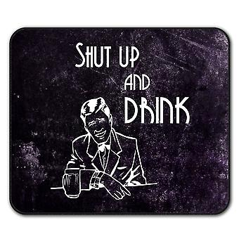 Drink Beer Party Funny  Non-Slip Mouse Mat Pad 24cm x 20cm | Wellcoda