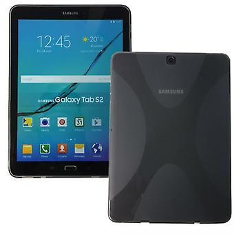 Siliconen beschermhoes voor Samsung Galaxy tab S2 grijs 9,7 T810 T815N