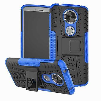 Per Motorola Moto E5 più ibrido caso 2 pezzo di protezione di copertura all'esterno manica tasca a marsupio Blau SWL
