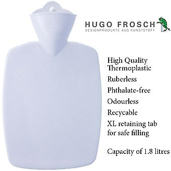 Hugo Frosch Classic Comfort Hot Water Bottle White 1.8 L