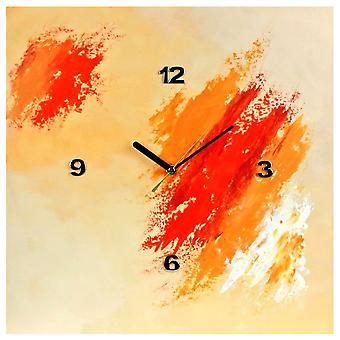 K Edition K1047 limited edition designer wall clock quartz handmade unique orange