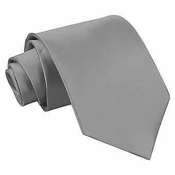 Platin-Ebene Satin Extra lange Krawatte