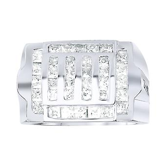 Sterling 925 Silver pave ring - GRILL