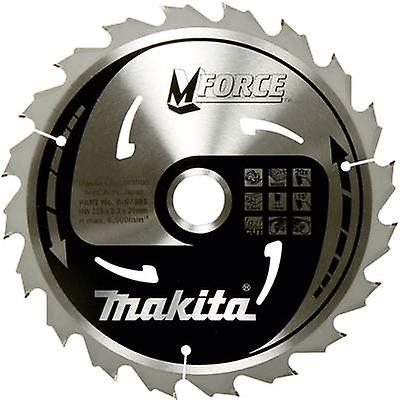 Circular saw blade 165 x 20 x 1.2 mm Number of cogs: 24 Makita M-FORCE B-32007 1 pc(s)