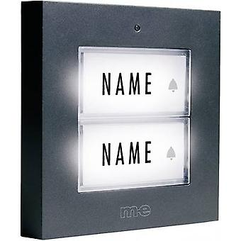 m-e modern-electronics KTB-2 A Bell panel backlit, incl. nameplate 2x Anthracite 12 V/1 A